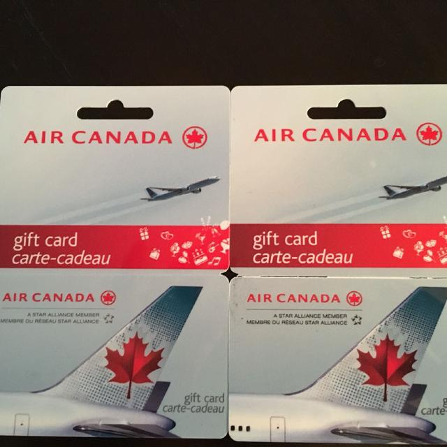 Two 1000 Air Canada Gift Cards Received At Our Wedding As Gifts Will Not Separate