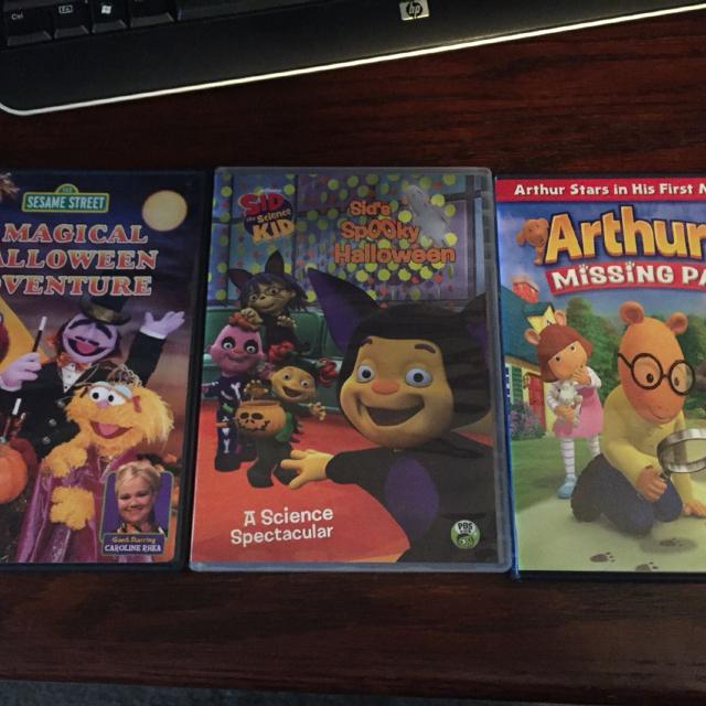 Pbs Kids Halloween Dvd.Pbs Dvds Sesame Street Sid The Science Kid Halloween And Arthur