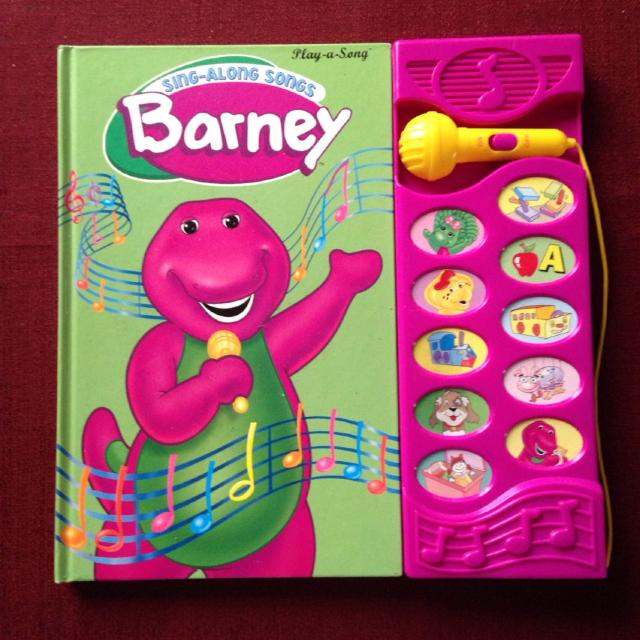 Barney Sing Along Songs Lyric Book  Needs Battery but Book is Really Cute  in Itself