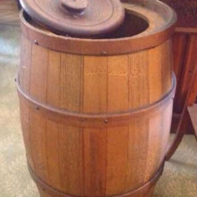 Find More Antique Flour Barrel With Lid In Amazing Condition This