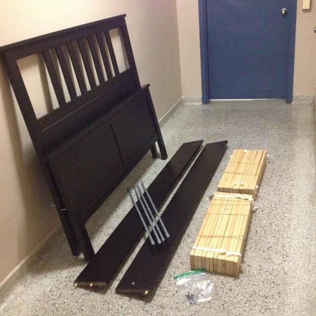 Find more Ikea Hemnes Full Size Bed Frame, Black/brown - Like New ...