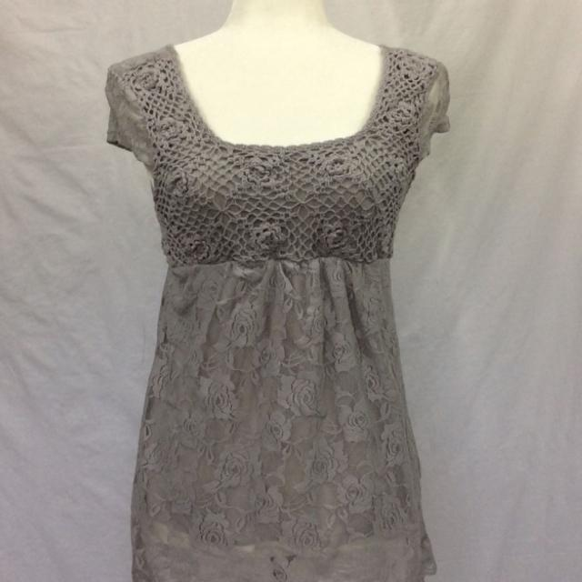 Find More Solitaire By Ravi Khosla Grey Lace Crochet Cap Sleeve