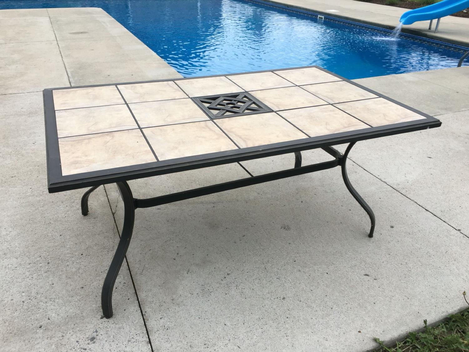 Find More 63x40x28 Patio Table With Removable Tiles Must