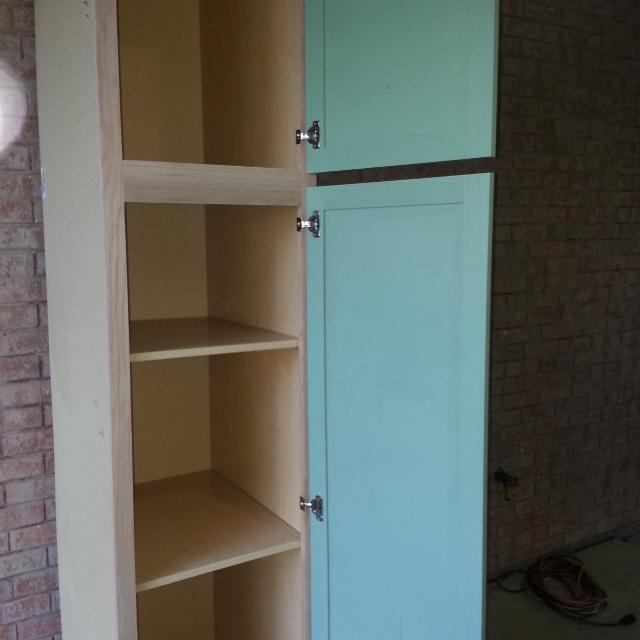 7foot Ft Tall Cabinet 18 Inches Wide And 23 Deep Doors Painted