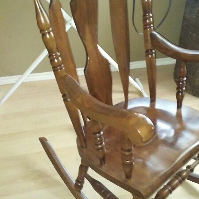 quality design acf25 6420a YUGOSLAVIA WOODEN ROCKING CHAIR. EXCELLENT CONDITION.PRICED TO SELL. $160