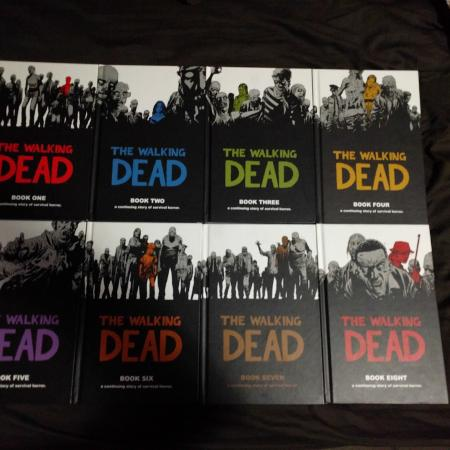 The Walking Dead hardcover books 1-8, used for sale  Canada
