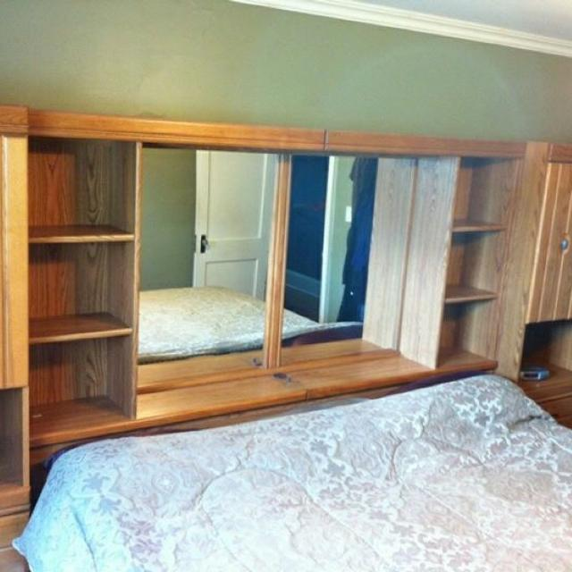 Find More Beautiful Oak Headboard With Built In Lights Mirror