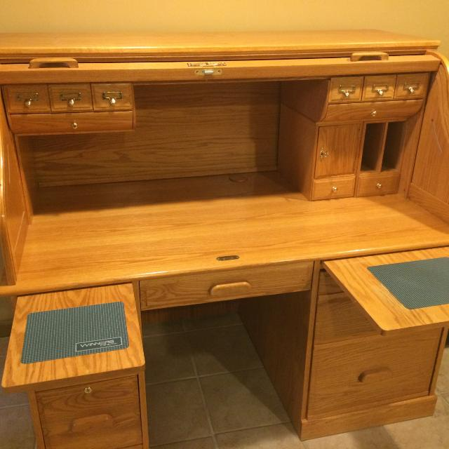 Best Winners Only Oak Roll Top Computer Desk For Sale In Bristol