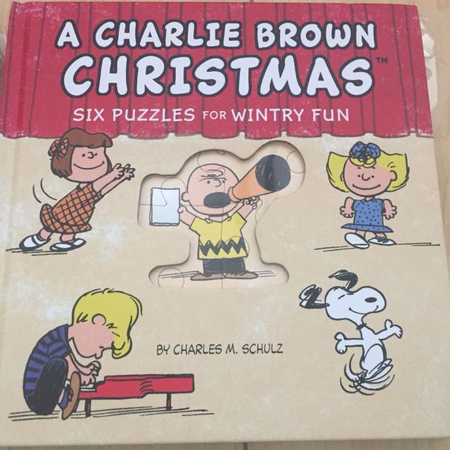 BRAND NEW Hallmark Charlie Brown Christmas puzzle book