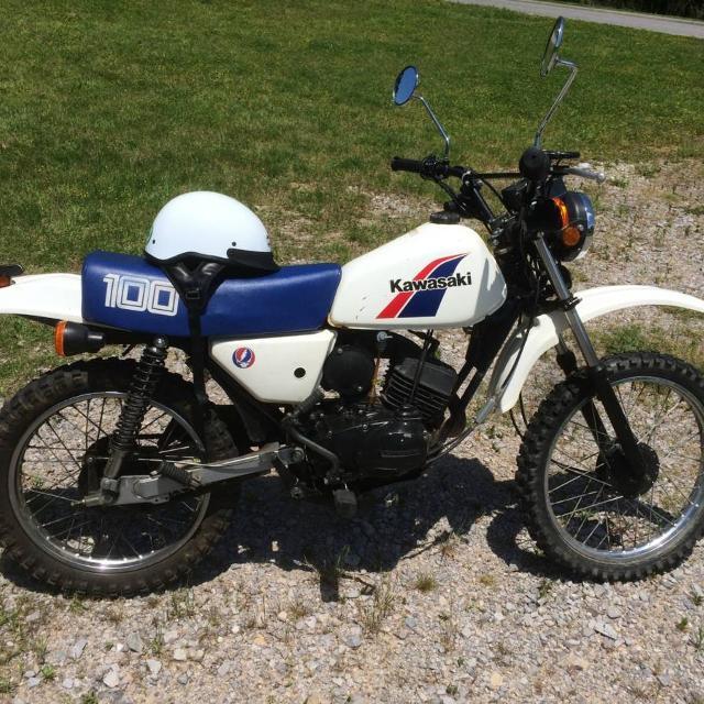 Find More 86 Kawasaki Enduro Ke 100 Motorcycle Clean Title For