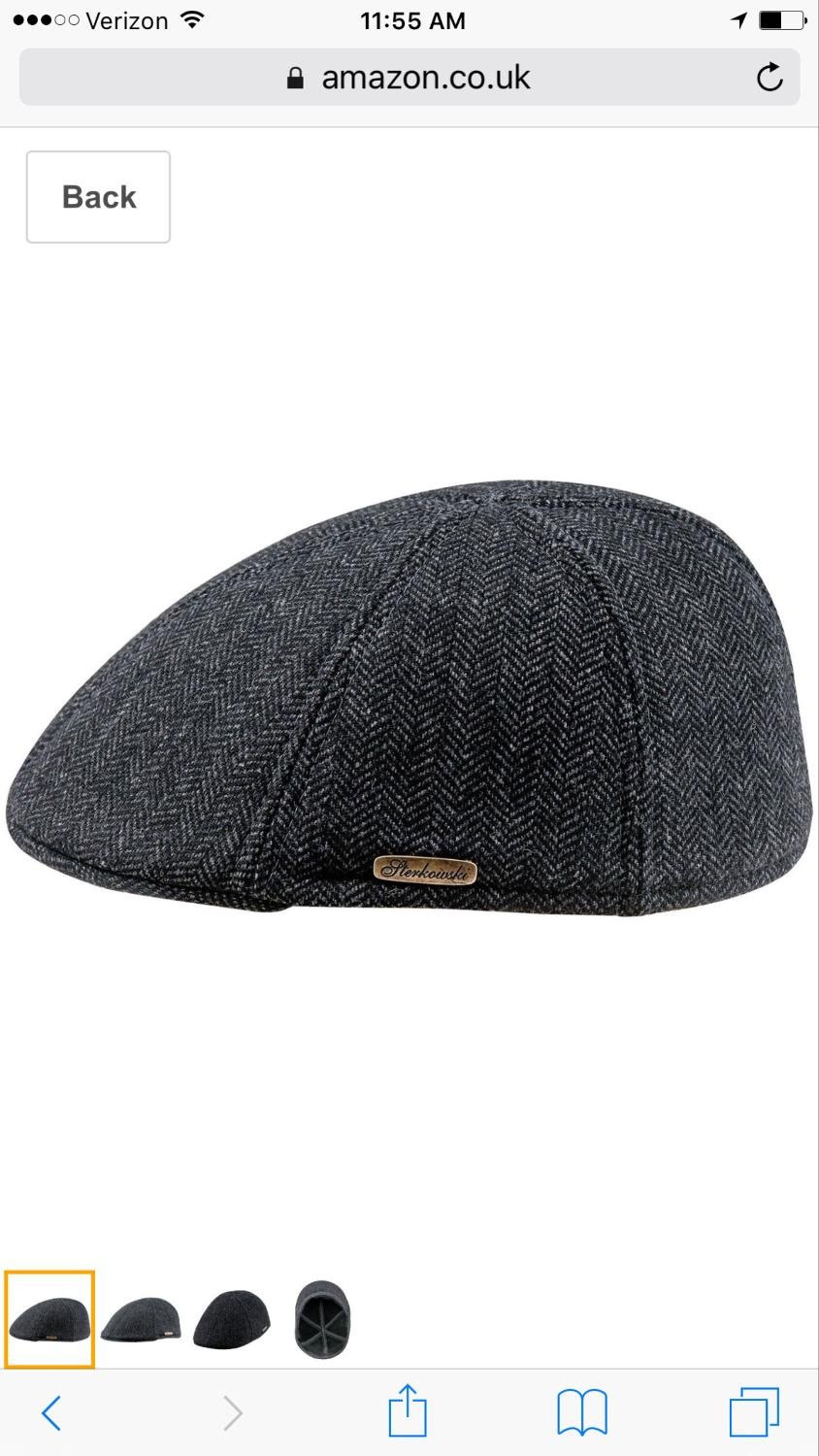 e4fbb43a4c298 Best Nwt Sterkowski Warm Wool Blend Petersham Duckbill 6 Panel Flat Cap.  Size Small Adult Or 8-10yr Old.  10 Box J for sale in Hendersonville