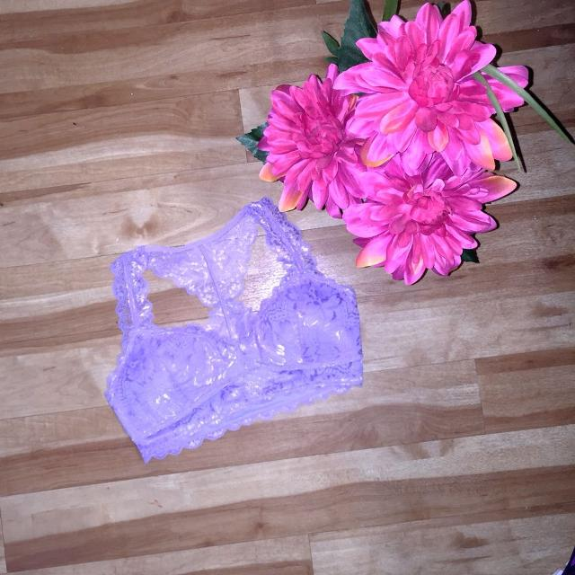 21f24fc8fe27a Find more  10 Today Only !!! Lavender Padded Lace Racerback Bralette ...