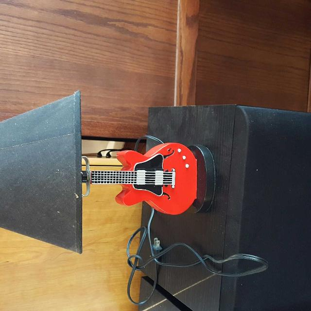 Find more small red guitar lamp damaged lamp shade for sale at up small red guitar lamp damaged lamp shade aloadofball Gallery