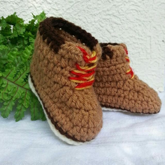 370f5b1a99208 Crochet Baby Timberland Style Work boots