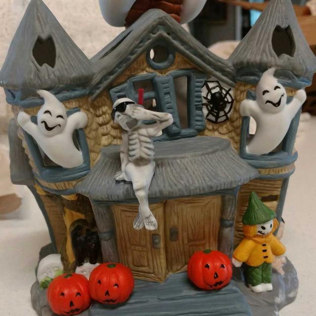 partylite halloween haunted house votive