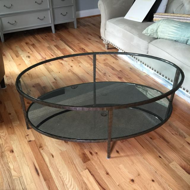 Crate Barrel Oval Coffee Table Clairemont Collection
