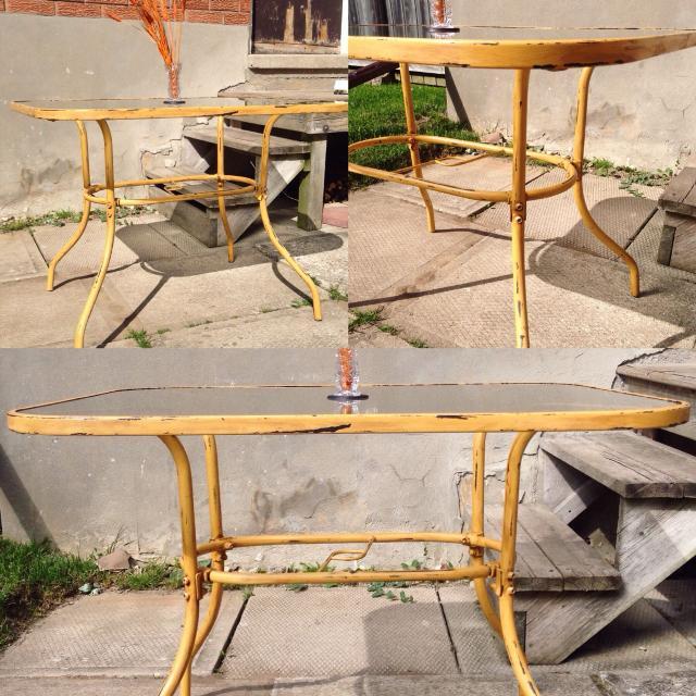 Best Refurbished Patio Table W Gl