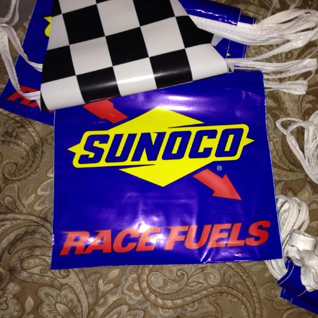 Sunoco Racing Fuels/checkered flag banner