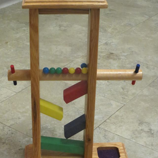 Wooden Marble Drop Toy