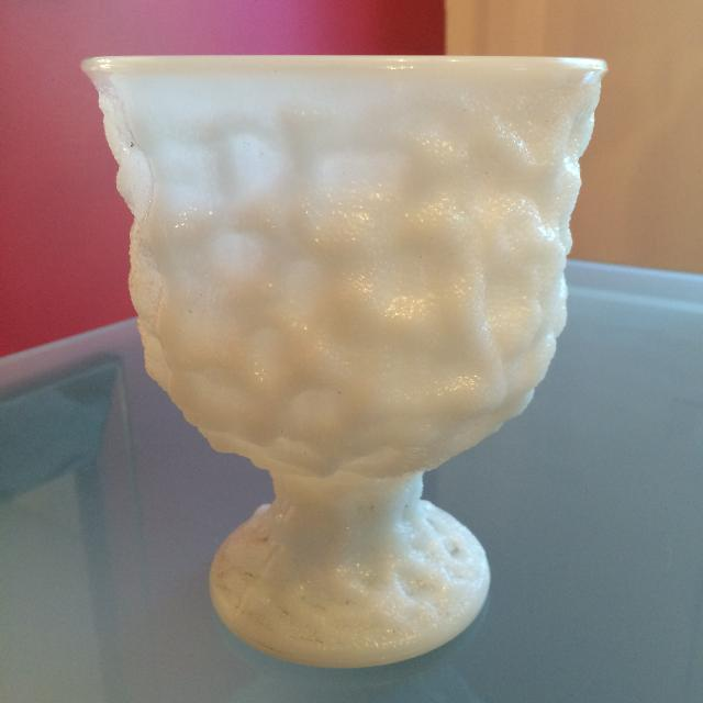 Best Vintage E O Brody Co Cleveland Milk Glass Vase M3000 Glass