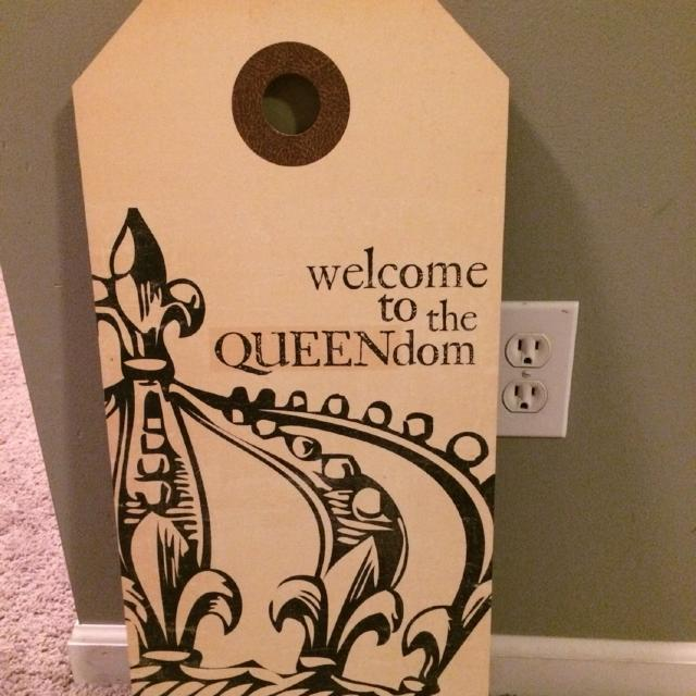 find more queendom sign made of masonite board for sale at up to 90