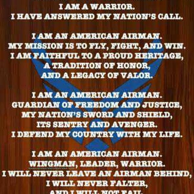 Best airmans creed handmade wood sign for sale in surprise airmans creed handmade wood sign altavistaventures Images