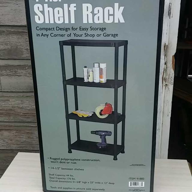 US GENERAL 4-TIER PLASTIC SHELF RACK #91883 FROM HARBOR - Find More Nib...us General 4-tier Plastic Shelf Rack #91883 From