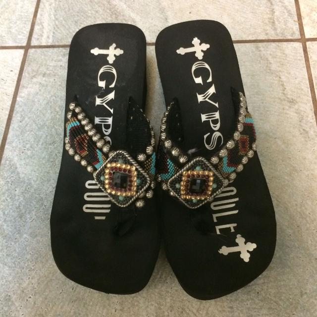d55ca857532854 Find more Gypsy Soule Sandals Size 8. Worn Maybe Three Times Three ...