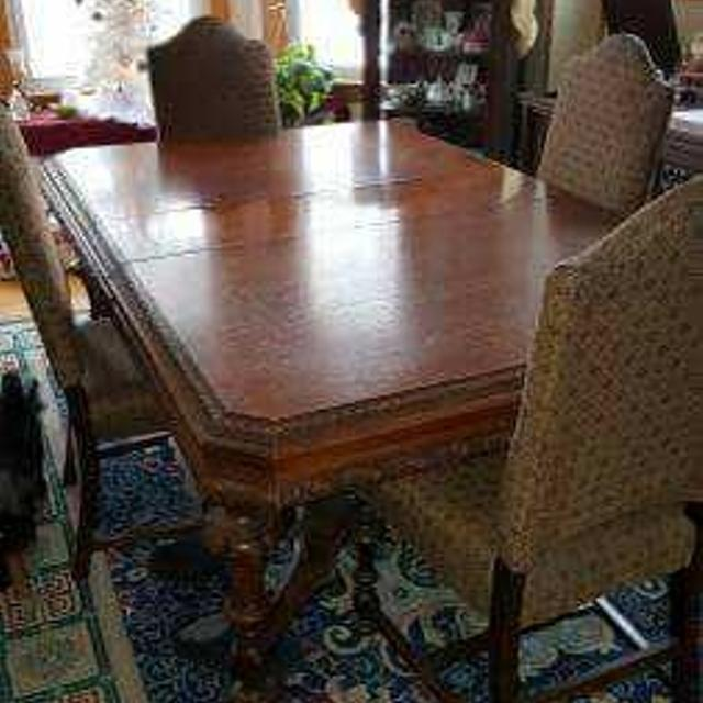Best Antique Dining Room Table 6 Chairs And 2 Table Leaves For Sale In Ladysmith Wisconsin For 2020