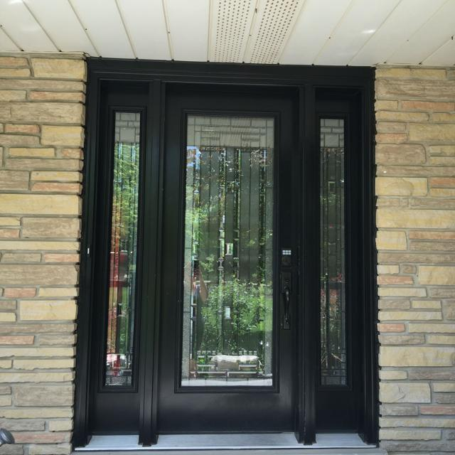 black front door with sidelightsFind more Black Front Door With Sidelights for sale at up to 90