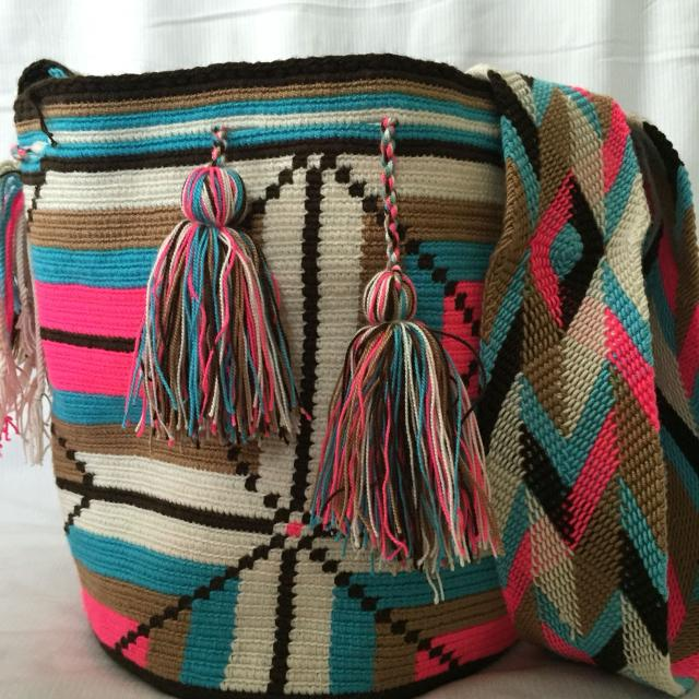 Wayuu Bags Handcrafted By Indigenous From Colombia Beautiful And Colorful The