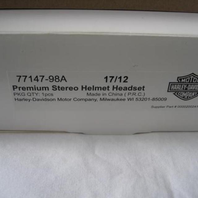 Harley Davidson Premium Stereo Helmet Headset