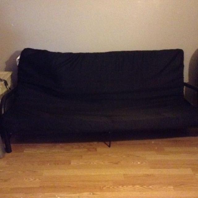 Gently Used Black Futon