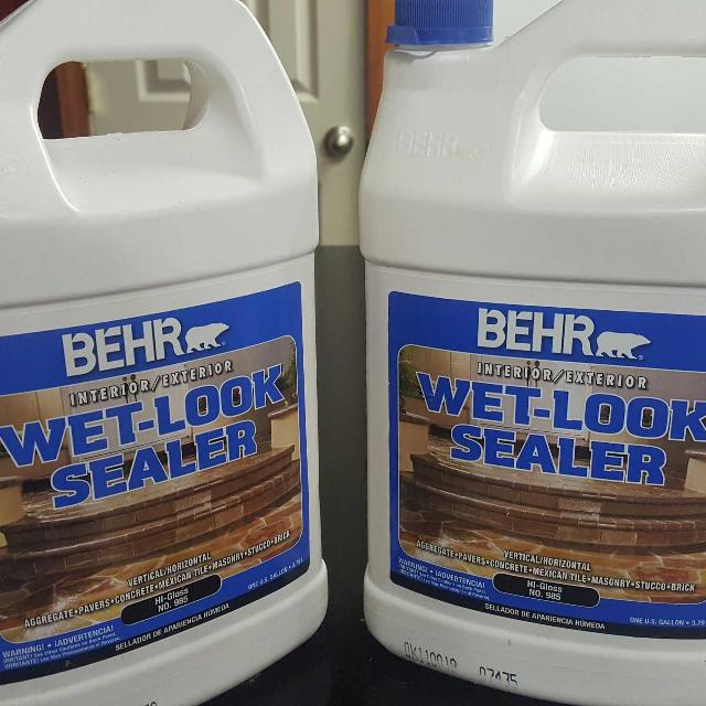 Find More Behr Interiorexterior Wet Look Sealer One Container Has - Behr wet look paver sealer