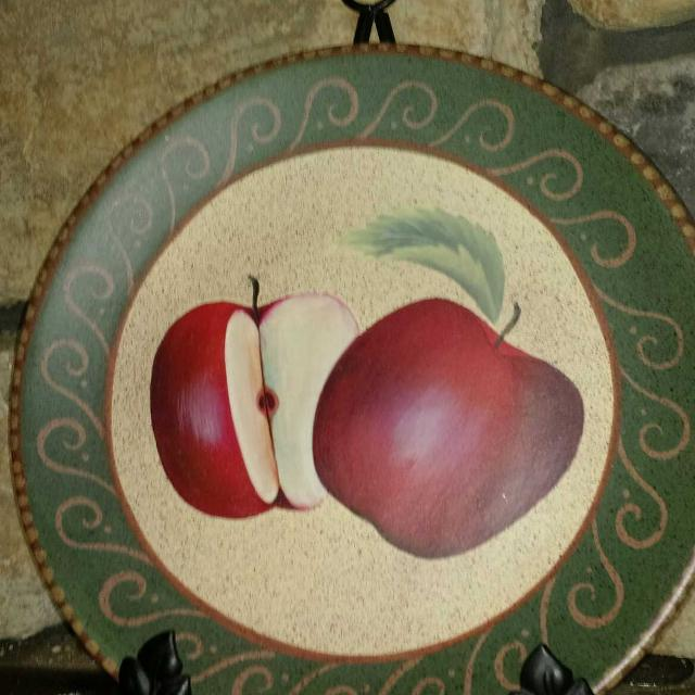 Find More Home Interiors Apple Decor Plate Rack For Sale At Up To 90 Off