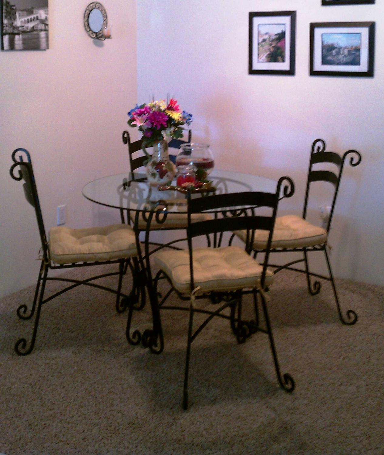 Best Pier One Glass And Wrought Iron Dining Set For Sale In Denver Colorado For 2021