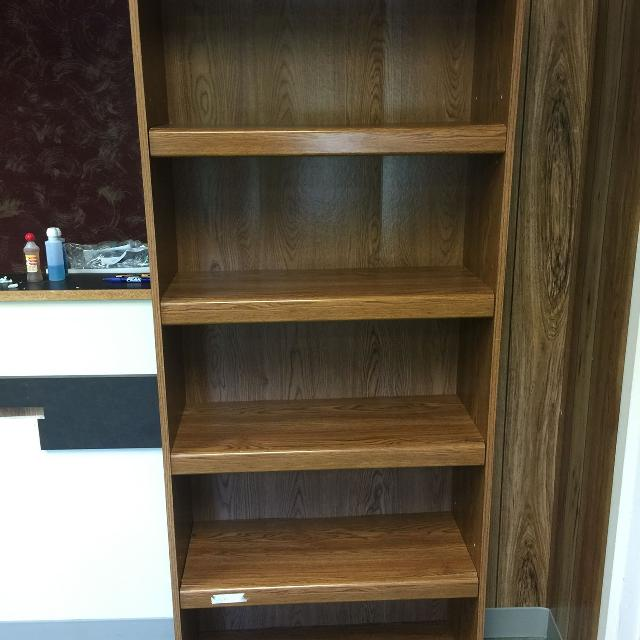 Wooden Shelf With Adjule Shelves Measures 29 Inches Wide 12 Deep 72