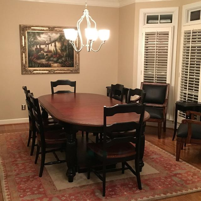 Furniture Indigo Creek Oval Dining Table 6 Side Chairs