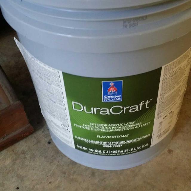 sherwin williams dura craft paint unopened 5 gallons plus another 3. Black Bedroom Furniture Sets. Home Design Ideas