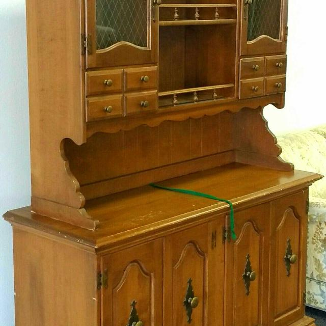 Antique Maple Wood China Cabinet Buffet Hutch Sideboard - Find More Antique Maple Wood China Cabinet Buffet Hutch Sideboard