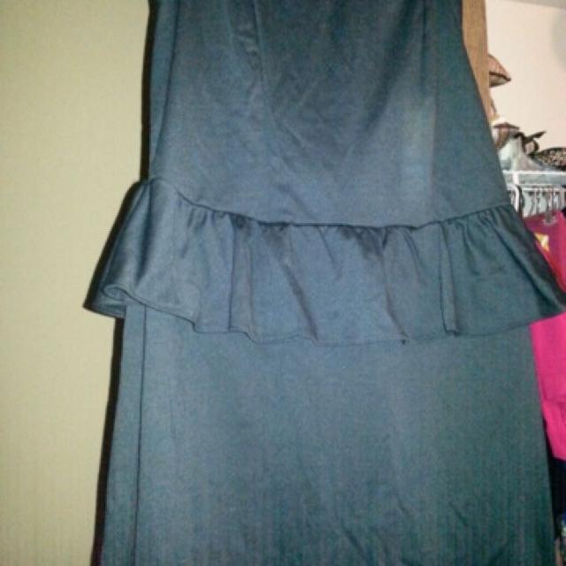 Best Nwts Sexy Black Peplum Ashley Stewart Dress For Sale In