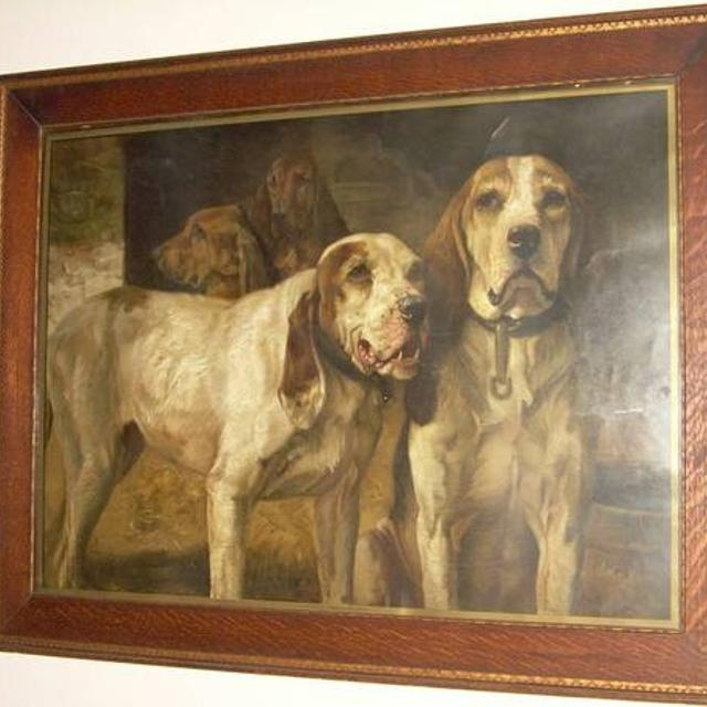 Find more 1900\'s Framed Winchester Bear Hunting Dogs Print for sale ...