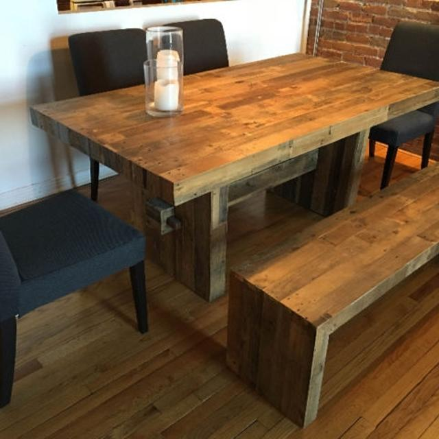 West Elm Emmerson Reclaimed Wood Dining Table Bench