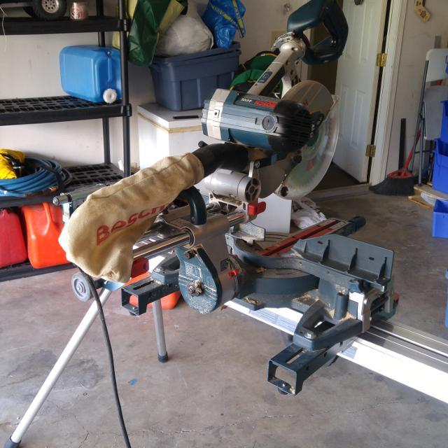 Find More Bosch 4410l Sliding Compound Miter Saw Amp Stand