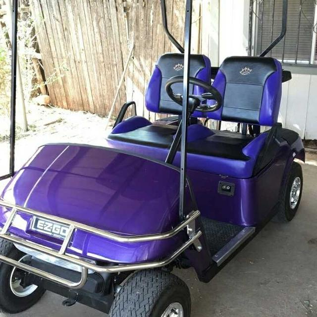 Best Newly Refurbished Purple And Black Golf Cart For Sale In Lubbock Texas For 2020