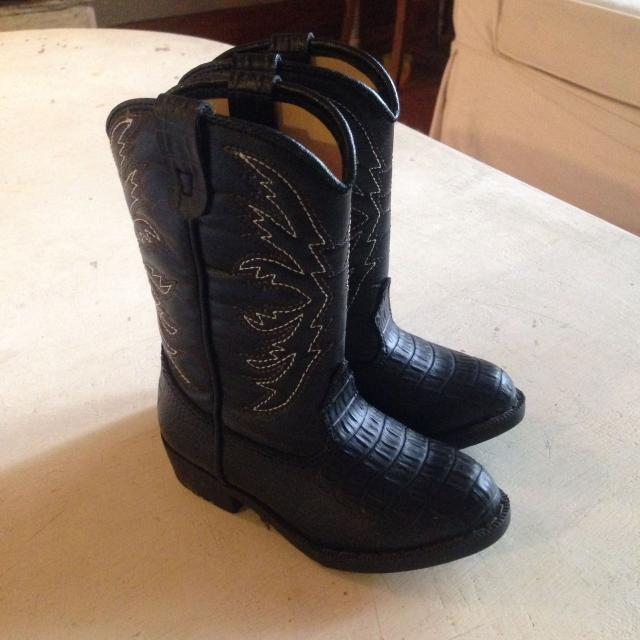 5f92974877c Black cowboy boots- toddler size 6 1/2