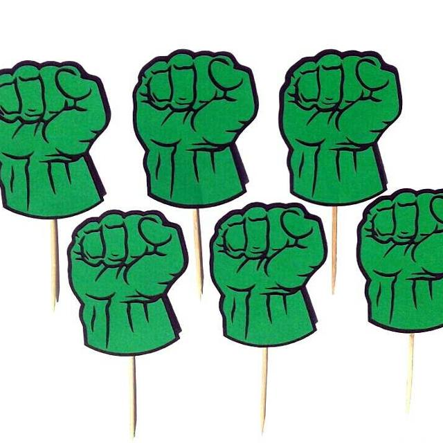Find More Hulk Fist Custom Cupcake Toppers Food Picks Birthday