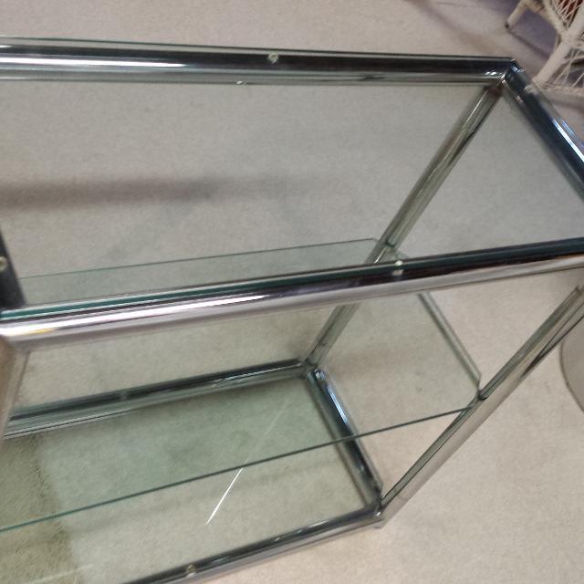 Best Retro Chrome/glass Shelf Unit for sale in Livonia, Michigan for ...