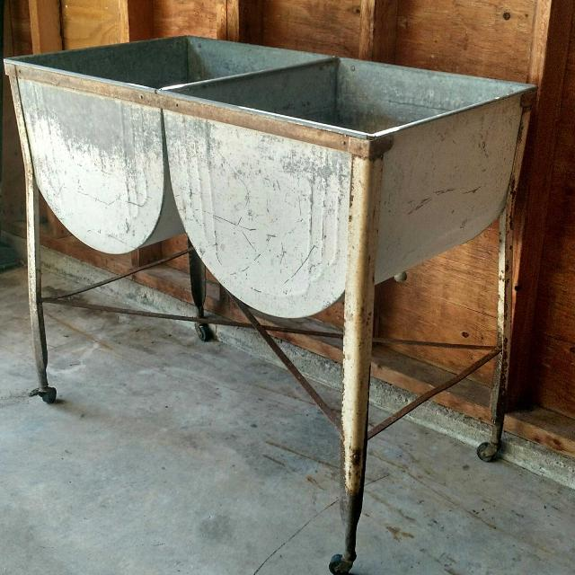 antique galvanized wash tub Find more Vintage Galvanized Double Wash Tub for sale at up to 90% off antique galvanized wash tub