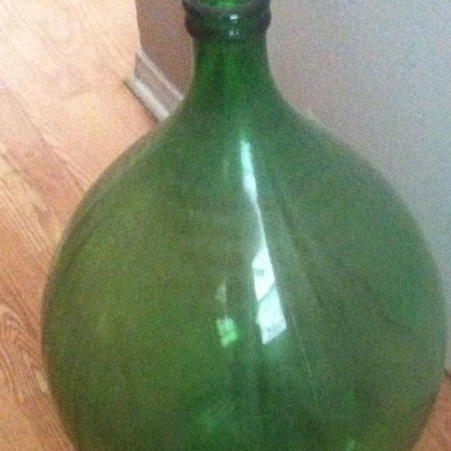 Huge Green Gl Wine Jug Perfect Shape 20 Firm 24 Hr Pu Pls